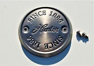 HUNTER CEILING FAN (non cast iron type fan) NEW PARTS - END CAP ANTIQUE PEWTER!!