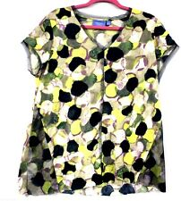 Simply Vera Wang Knit Tunic Top XL Multicolor Yellow Purple Blue  NWOT Cap Sleev