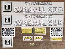 IHC Farmall Cub (Late) Tractor Decal Set