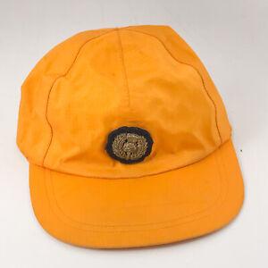 Retro LL Bean Gore-Tex hat cap Yellow Ripstop Nylon with homemade emblem hbx19