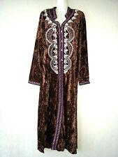 Abaya Maxikleid Jellabiya Samtkleid Winterkleid arabisches Kleid Abendkleid Gr M