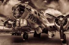 B-17 aircraft plane 20x30 Photo WWII Bomber fine art canvas art photograph