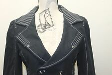 Guess Women Blazer Cropped Black Blazer Double Breasted Sexy 100% Cotton L