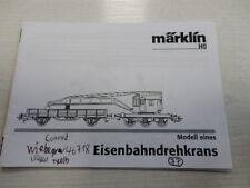 Märklin H0 Eisenbahndrehkran -Bedienungsanleitung-Anleitung-Gebrauchsanleitung,