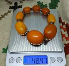 Amber baltic 100%  natural old  bracelet egg yolk and red colour , bernstein