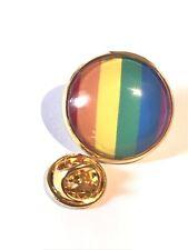 GROS PIN'S 2cm Métal Drapeau LGBT 🏳️🌈 Gay Gay Pride Doré