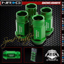 FOR SUBARU/NISSAN GREEN 4 X NRG RIM EXTENDED M12X1.25 1.75L WHEEL LUG NUT