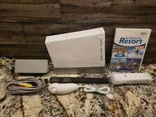 Nintendo Wii White Console RVL-001 Game Cube Compatible Wii Sports Resort Bundle