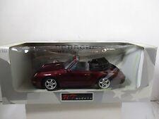 1/18 UT MODELS MAROON PORSCHE 911 CABRIO