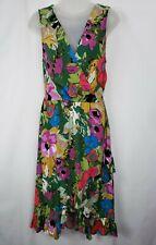 Plenty Tracy Reese Anthropologie Daphne Floral Ruffle Flounce Hem Dress Medium