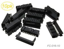 10 Pack 16 Pin 2x8 Female Idc 254mm Pitch Connectors For Flat Ribbon Cable