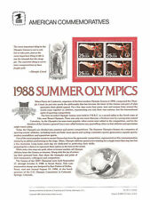 #315 25c Summer Olympics '88 #2380 USPS Commemorative Stamp Panel