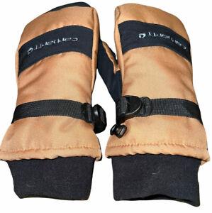 Carhartt A616 Men's Waterproof Insulated Mitt Brown Black Size M Medium Gloves