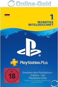 PlayStation Plus 1 Monat Mitgliedschaft - PS5 PS4 PS3 PS Vita Download Code DE