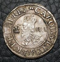 1638-42 Aberystwyth Great Britain 4 Pence Groat | Charles I | S-2893 | Book MM