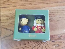 """Vintage Harrods 4"""" Christmas Bear Collectible Ornaments Beefeater and Police Man"""
