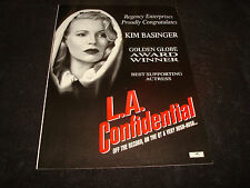L.A. Confidential 1997 Oscar ad Kim Basinger with hood, Best Supporting Actress