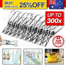 75-300X Stainless Steel Clothes Pegs Hanging Clips Pins Laundry Windproof Clamp