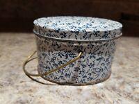 Vintage Woolworth Candle Tin Basket Handle