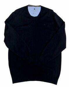 XXL Kitaro Herren Pullover V-Ausschnitt lange Ärmel  Anthrazit Gr