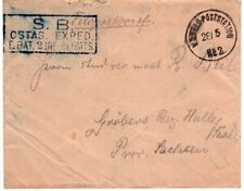1901 Germany Offices in China Boxer Rebellion - FeldPost to Saxony Nice Markings