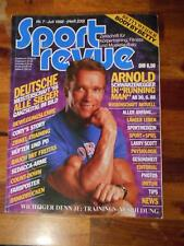 SPORT REVUE bodybuilding magazine ARNOLD SCHWARZENEGGER with poster 7-88 (Ger)