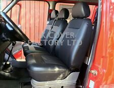 VW TRANSPORTER T4  VAN SEAT COVERS MADE TO MEASURE CLOTH + PVC LEATHER  X52BK