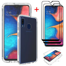 For Samsung Galaxy A10E/ A20/ A20S Clear Cover TPU Case +Full Screen Protector