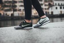 NIKE FLYKNIT RACER SIZE 5.5 MEN 7 WOMEN BLACK WHITE 526628-011 VOLT MULTI COLOR