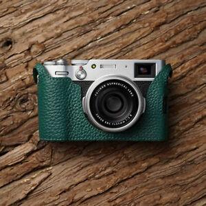 Genuine Leather Half Case Cover For Fujifilm X100V X-100V 100V Camera Protector