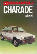 Daihatsu Charade Diesel Prospekt brochure Autoprospekt Auto PKWs Japan Asien