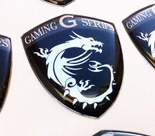 MSI Gaming G Series Dragon Shield  BLACK EDITION 3D domed sticker badge 40x33mm.