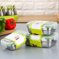 Stainless Steel Thermal Insulated Lunch Box Food Container School Bento Box Hot