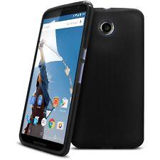 Coque Housse Pour Motorola Nexus 6 Semi Rigide Gel Extra Fine Mat/Brillant Noir