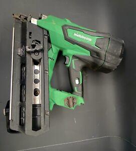 hitachi-metabo HPT 21 dregree 18v cordless framing nailer gun w 1- batt nr1890dr
