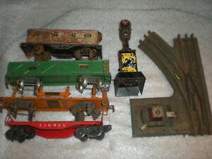 Lot American Flyer & Lione O-Gauge Car 3216 1682 Railroad Switch 021 ASIS READ
