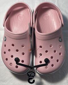 New Women's CROCS Crocband II Pink Shoes Clogs Size 8 FREE SHIPPING