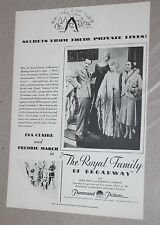 """1931 Movie Film Ad Clipping ~ """"The Royal Family of Broadway"""" Paramount Pictures"""