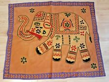 Elephant cloth hanging - embroidered stitching