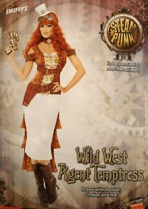 Smiffy's Women's Wild West Agent Temptress - Steam Punk Fancy Dress Medium