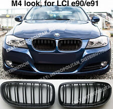 BMW 3,2008-11,E90/E91,saloon/estate,dual/double slat/bar M4/M3 grill,Gloss Black