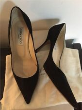 Jimmy Choo Black Suede Pointy Toe Pumps RRP £425 Size 5