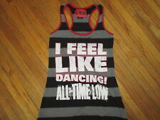 ALL TIME LOW I FEEL LIKE DANCING TANK TOP Band Concert Striped Sleeveless Tee MD