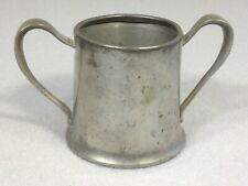 ANTIQUE late 1800s  CHILD'S PEWTER CUP HALLMARK ROGERS solid Pewter 1100