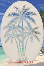 New 10x16 Oval PALM TREE WINDOW CLING Vinyl Glass Decals - Tropical Door Decor