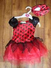 GIRLS FANCY DRESS SPANISH STYLE DRESS AND SLIP ON SHOES AGE 1 - 2 YEARS NEW