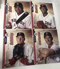 LOT of 4  2004 BOSTON RED SOX MARTINEZ ORTIZ SCHILLING 8x10 MLB ACTION PHOTO