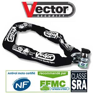 Chaine Antivol SRA Homologue NF FFMC moto bike lock chain motorcycle theft NEUF