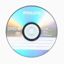 15 PHILIPS 16X Logo DVD-R DVDR Blank Disc Media 4.7GB 120Min