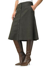 Banana Republic Flannel Button-Front Skirt 0 Black